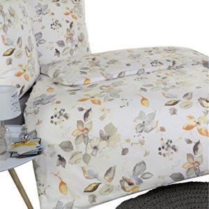Schöne Bettwäsche aus Flanell - grau 135x200 von Estella