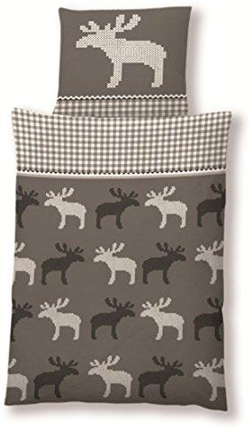 Traumhafte Bettwäsche aus Flanell - grau 135x200 von Haus und Deko