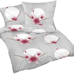 Schöne Bettwäsche aus Flanell - grau 135x200 von Heubergshop