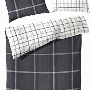 Kuschelige Bettwäsche aus Flanell - grau 135x200 von Primera