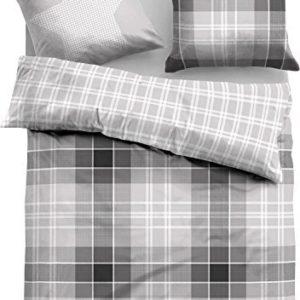 Hübsche Bettwäsche aus Flanell - grau 135x200 von TOM TAILOR