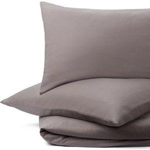 Schöne Bettwäsche aus Flanell - grau 135x200 von URBANARA