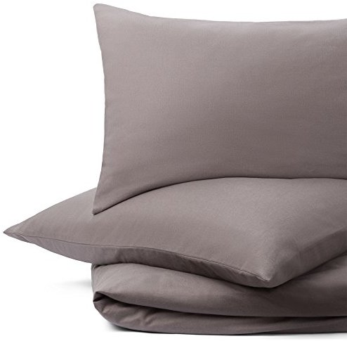 sch ne bettw sche aus flanell grau 135x200 von urbanara. Black Bedroom Furniture Sets. Home Design Ideas