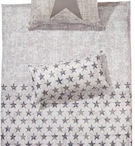 Schöne Bettwäsche aus Flanell - grau 155x200 von Erwin Müller