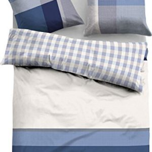 Schöne Bettwäsche aus Flanell - grau 155x200 von TOM TAILOR