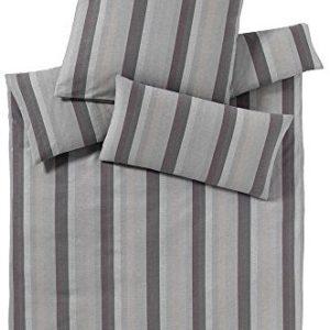 Hübsche Bettwäsche aus Flanell - grau 155x220 von elegante
