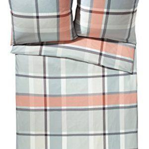 Kuschelige Bettwäsche aus Flanell - grau 155x220 von Erwin Müller