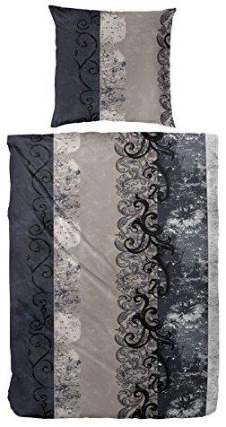 Hübsche Bettwäsche aus Flanell - grau 155x220 von Primera