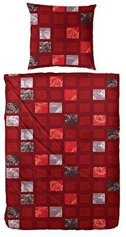 Traumhafte Bettwäsche aus Flanell - grau 155x220 von Primera