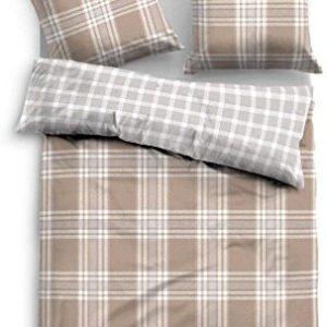 Schöne Bettwäsche aus Flanell - grau 155x220 von TOM TAILOR