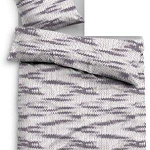 Hübsche Bettwäsche aus Flanell - grau 155x220 von TOM TAILOR
