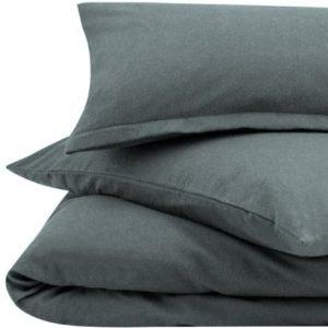 Hübsche Bettwäsche aus Flanell - grau 155x220 von URBANARA