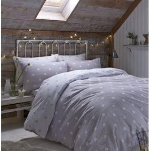 Hübsche Bettwäsche aus Flanell - grau 200x200 von Dekoria