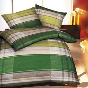 Hübsche Bettwäsche aus Flanell - grün 135x200 von Kaeppel