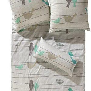 Kuschelige Bettwäsche aus Flanell - grün 155x200 von Erwin Müller