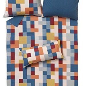Kuschelige Bettwäsche aus Flanell - petrol 135x200 von Ibena