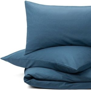 Hübsche Bettwäsche aus Flanell - petrol 135x200 von URBANARA