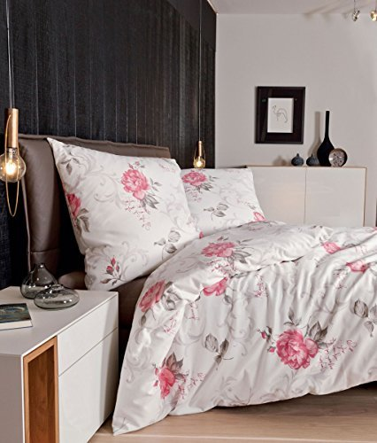 h bsche bettw sche aus flanell rosa 135x200 von janine bettw sche. Black Bedroom Furniture Sets. Home Design Ideas