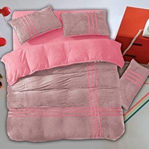 Traumhafte Bettwäsche aus Flanell - rosa 155x200 von DecoKing
