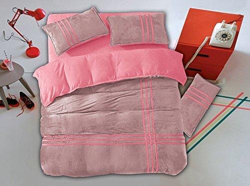 traumhafte bettw sche aus flanell rosa 155x200 von decoking bettw sche. Black Bedroom Furniture Sets. Home Design Ideas
