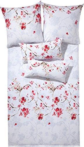 Hübsche Bettwäsche aus Flanell - rosa 155x220 von Erwin Müller