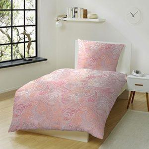 Kuschelige Bettwäsche aus Flanell - rosa 155x220 von Hahn