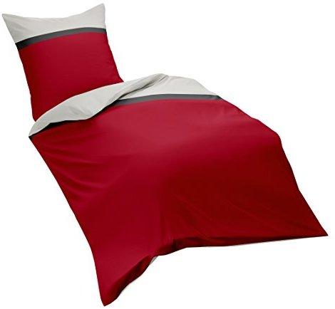 Hübsche Bettwäsche aus Flanell - rot 135x200 von fleuresse