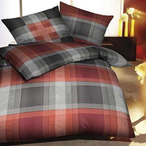 Traumhafte Bettwäsche aus Flanell - rot 135x200 von Kaeppel