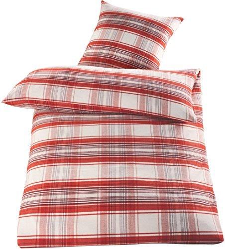 h bsche bettw sche aus flanell rot 135x200 von meradiso bettw sche. Black Bedroom Furniture Sets. Home Design Ideas