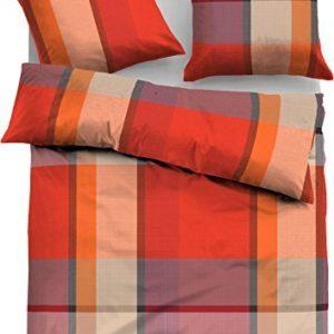 Hübsche Bettwäsche aus Flanell - rot 135x200 von Tom Tailor