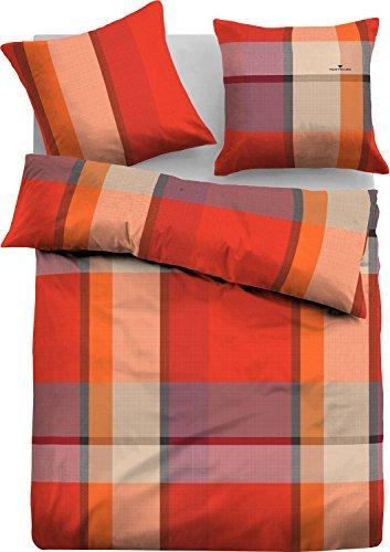 h bsche bettw sche aus flanell rot 135x200 von tom tailor bettw sche. Black Bedroom Furniture Sets. Home Design Ideas