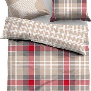 Traumhafte Bettwäsche aus Flanell - rot 155x200 von