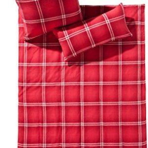 Hübsche Bettwäsche aus Flanell - rot 155x200 von fleuresse