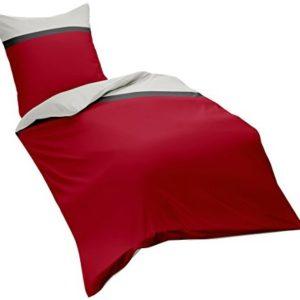 Traumhafte Bettwäsche aus Flanell - rot 155x220 von fleuresse