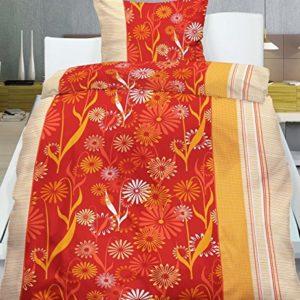 Kuschelige Bettwäsche aus Flanell - rot 155x220 von Frottier Heimtexhandel