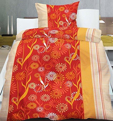 kuschelige bettw sche aus flanell rot 155x220 von. Black Bedroom Furniture Sets. Home Design Ideas