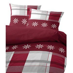 Traumhafte Bettwäsche aus Flanell - rot 155x220 von Hahn