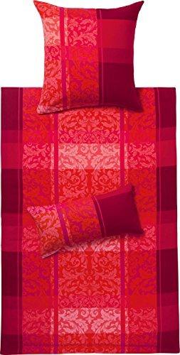 h bsche bettw sche aus flanell rot 155x220 von ibena. Black Bedroom Furniture Sets. Home Design Ideas