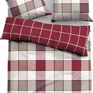 Schöne Bettwäsche aus Flanell - rot 155x220 von TOM TAILOR