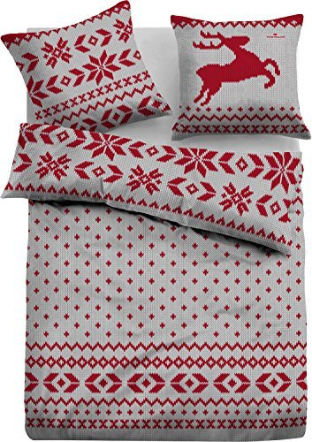 sch ne bettw sche aus flanell rot 155x220 von tom tailor bettw sche. Black Bedroom Furniture Sets. Home Design Ideas