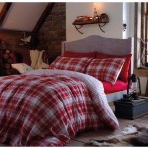 Schöne Bettwäsche aus Flanell - rot 200x200 von Dekoria