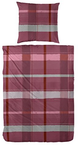 Traumhafte Bettwäsche aus Flanell - rot 200x200 von Hahn