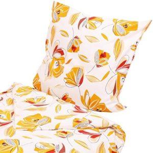 Schöne Bettwäsche aus Flanell - schwarz 135x200 von Hans-Textil-Shop