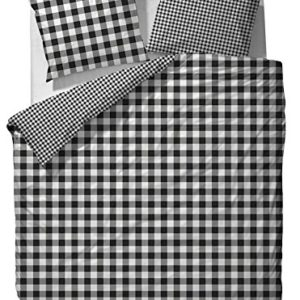 Schöne Bettwäsche aus Flanell - schwarz 135x200 von Marc O'Polo