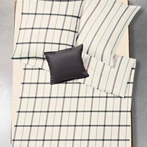Kuschelige Bettwäsche aus Flanell - schwarz 155x220 von fleuresse
