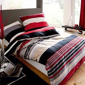 Kuschelige Bettwäsche aus Flanell - schwarz 155x220 von Kaeppel