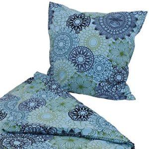 Hübsche Bettwäsche aus Flanell - türkis 135x200 von Hans-Textil-Shop