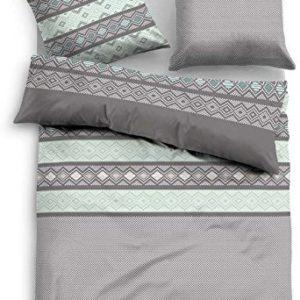 Traumhafte Bettwäsche aus Flanell - türkis 135x200 von TOM TAILOR