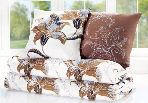 traumhafte bettw sche aus flanell wei 135x200 von erwin. Black Bedroom Furniture Sets. Home Design Ideas