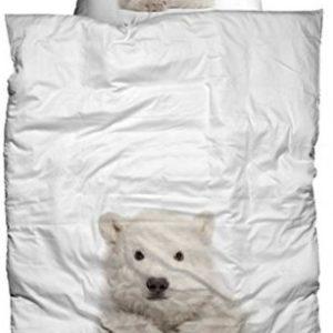 Schöne Bettwäsche aus Flanell - weiß 155x220 von Casatex